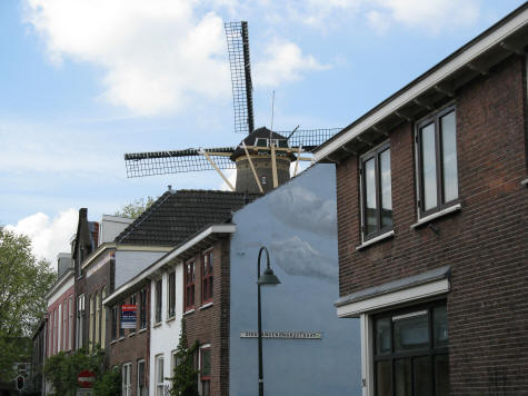Windmill in Delft Netherlands